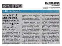 2009-08 El Heraldo de Chihuahua - México
